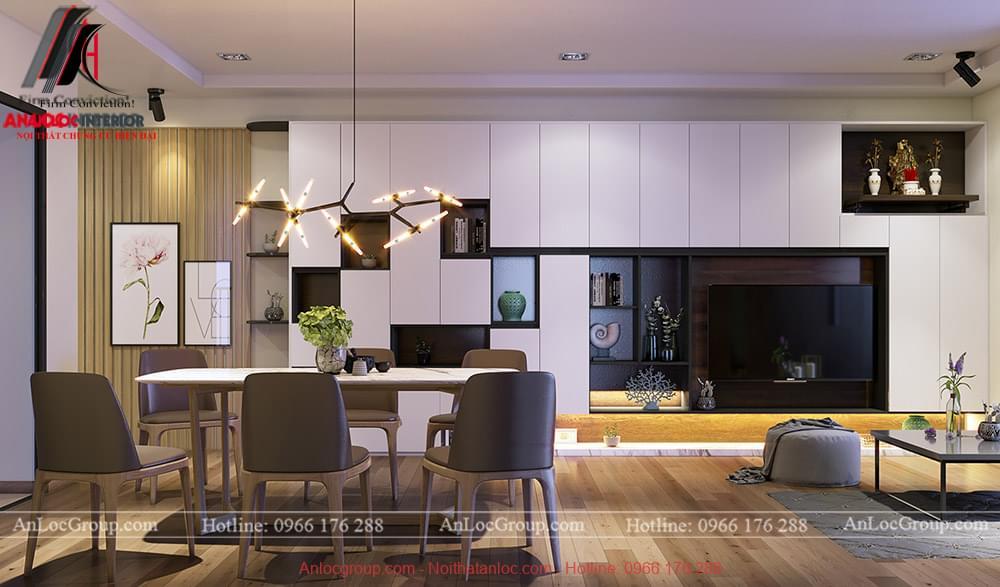 Nội thất căn hộ 87m2 tại chung cư Ecolife Tây Hồ - Ảnh 2