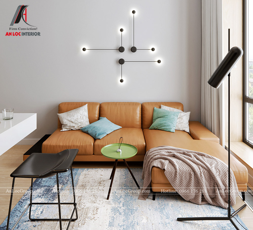 Mẫu thiết kế nội thất căn hộ mini đẹp, hiện đại - Ảnh 2