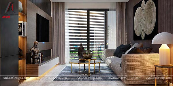 Phòng khách đẹp nhờ sự kết hợp hài hòa giữa ánh sáng tự nhiên và ánh sáng nhân tạo