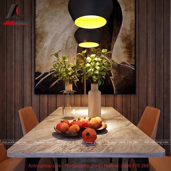 Khu vực bàn ăn được trang trí đẹp giúp cả gia đình có những bữa ăn đầm ấm