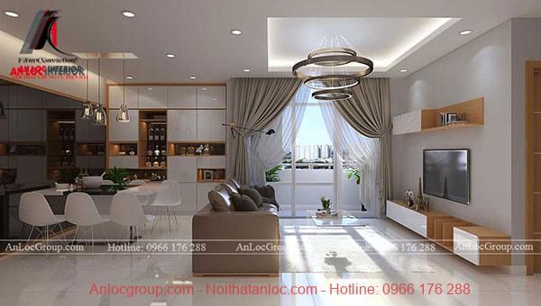 Thiết kế nội thất căn hộ đẹp tại D'Capitale - Ảnh 1