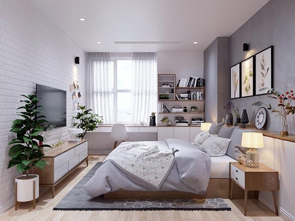 Ngắm những mảng xanh trong thiết kế căn hộ 3 phòng ngủ - Ảnh 10