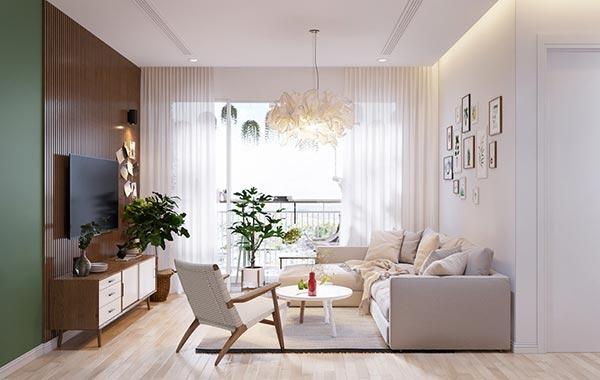 Ngắm những mảng xanh trong thiết kế căn hộ 3 phòng ngủ - Ảnh 2