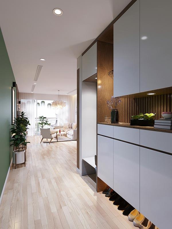 Ngắm những mảng xanh trong thiết kế căn hộ 3 phòng ngủ - Ảnh 3