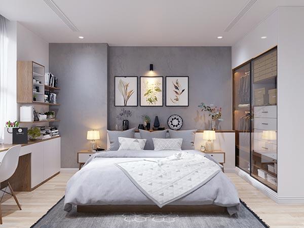 Ngắm những mảng xanh trong thiết kế căn hộ 3 phòng ngủ - Ảnh 9