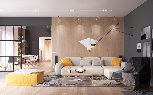 Căn hộ 292m2 sử dụng nội thất gỗ đẹp trong từng chi tiết - Ảnh 1