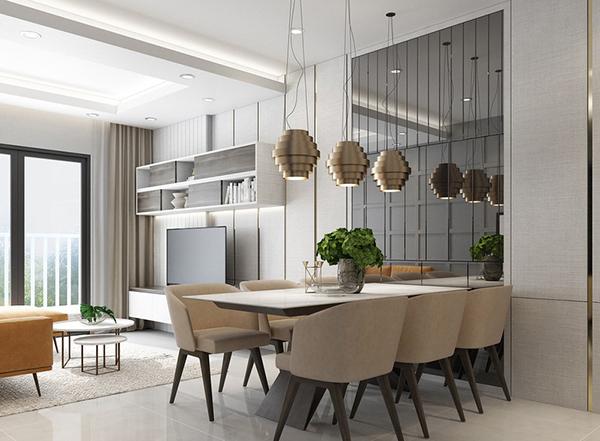 Thiết kế nội thất chung cư 2 phòng ngủ đẹp với màu sắc hài hòa