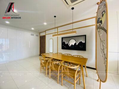 Thi công căn hộ 100m2 - One Verandah - Phong cách Nhật